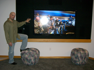 "We built a Sony 70"" into a tight corner years ago."